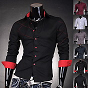 Men's Slim Long Sleeves Cotton Shirt
