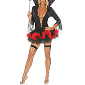 Fancy Demon Dress Halloween Costume (3 Pieces)