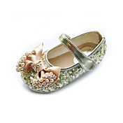 Heel Kids 'couro liso fechado do dedo do pé com cetim bowknot partido / Sequin / Evening Shoes (mais cores)