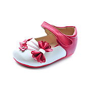 Heel filhos adorveis 'couro liso fechado toe com bowknot partido / Evening Shoes (mais cores)