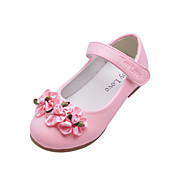 Kids 'Leatherette Flat Heel Stengt Toe Med Satin Flower Party / Evening Sko (Flere farger)