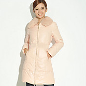 Women's Fur Collar Long Down Coat