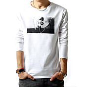 Men's Round Collar Long Sleeve T-shirt