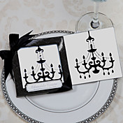 """Chandelier"" Mirrored Glass Coaster Favors(set of 2)"