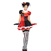 Carino Clown Halloween Dress Costume (4 Pezzi)