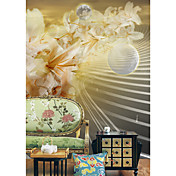 Beautiful Floral Contemporary Graphics Nature Mural