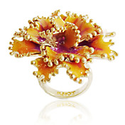Sjarmerende Alloy Flower Design Fashion Ring