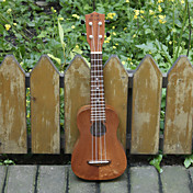 Koa Pili Koko - (mhy-sl)  All-solid Mahogany Extended Fingerboard Soprano Ukulele with Bag/Strap