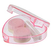 Heart-Shaped Transparent Kontakt Lens Case (Random Color)