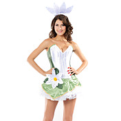 Sweet Green and White Spandex Magic Kiss Princess Costumes(3 Pieces)