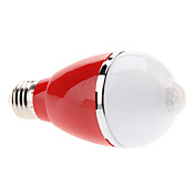 Infrared Sensor E27 5W 420-460LM 3000-3500K Warm White Light Colorful Shell LED Ball Bulb (110-240V, Assorted Colors)