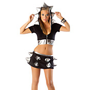 Cute Black With Soft Silver Rivets Animal Costumes(3 Pieces)