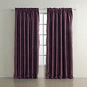 (Two Panels) Classic Fascinating Embossed Blackout Curtains