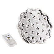 E27 1.5W 120-150LM fredda luce bianca ricaricabile Remote Controlled lampadina Spot LED (110-240V)