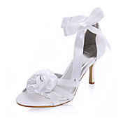 Satin Stiletto Heel Sandals With Satin Flower Wedding / Party Evening Shoes (More Colors Available)