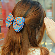 Handmade Blue and Pink Satin 13cm Bow Sweet Lolita Headdress