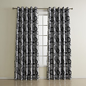 (Two Panels) Modern Novelty Bubbles Kids Room Darkening Curtains
