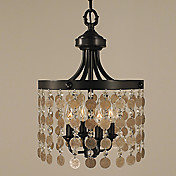 60W Pendent Light with 4 lights with Shells on the Shade