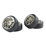 NEW 4PCS Plating  1/10  Wheel Rim & Tyre,General Used For ON ROAD Drifting RC CAR