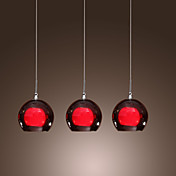 Comtemporary Glass Pendant Lights with 3 Lights Double Shades Designed
