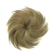 100% humano indiano cabelo dourado reta 5 &quot;* 5.5&quot; mono peas superiores do cabelo