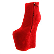 Suede 7.08 Inch Heel Height Ankle Boots Party / Evening Shoes