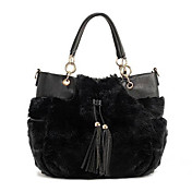 Women's Rabbit Fur Tote(36*12*28CM)
