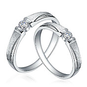 Charme argento sterling 925 con anelli Cubic Zirconia di coppia