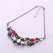 Women's Vintage Gem Flower Choker