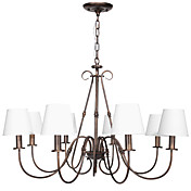 60W E14 8-light Chandelier with Glass Shades