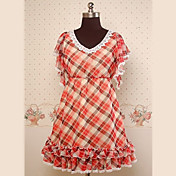 Half-rme Knlang Mix-farve chiffon Sde Lolita Kjole