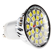 GU10 5W 24x5050 SMD 380-420LM 6000-6500K Natural White Light Bulb Spot LED (220-240V)