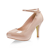 Patent Leather High Heel Pumps With Ankle Strap And Rhinestone Charm (More Colors)