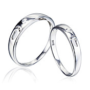 Personlized 925 Silver With Feet Couple's Rings