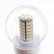 Lmpada LED Branco Quente E27 5.5W 102x3528 SMD 500-550LM 2700-3500K (220-240V)