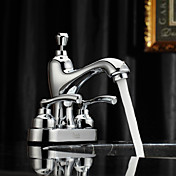 Sprinkle® by Lightinthebox - Chrome Finish Centerset Two Handles Brass Bathroom Sink Faucet