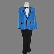 Gangnam Style Psy Dynamic Blue Suit Halloween Costume (3 stuks)
