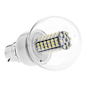 B22 5W 102x3528 SMD 400-420LM 6000-6500K Natural White Light LED Ball Bulb (110V/220V)