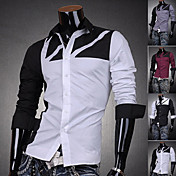 Men's Fashion Contrast Color 100% Cotton Shirt