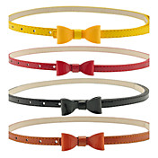 Damen Candy Color Bow Leather Belt (Länge: 98cm, Breite: 1.1cm)