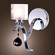 40W Modern Wall Light with Crystal Drop