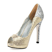 JALYN - Stiletto Salto Stiletto com Glitter Brilhante
