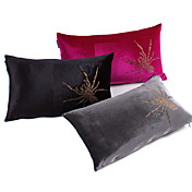 Set of 3 Golden Spider Velvet Decorative Pillow Cover
