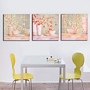 Stretched Canvas Print Still Life Floral Set of 3 1301-0137
