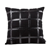 Modern Faux Leather Decorative Pillow Cover