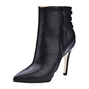 Leatherette Stiletto Heel Ankle Boots With Buckle Party / Evening Shoes