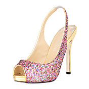 Sparkling Glitter Stiletto Heel Peep Toe Pumps / Sandals Party / Evening Shoes With Sequins