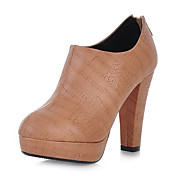 Gorgeous Leatherette Chunky Heel Ankle Boots With Zipper Party / Evening Shoes(More Colors)