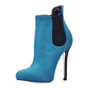 Fabulous Suede Stiletto Heel Ankle Boots Party / Evening Shoes
