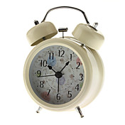 Chrysanthemum Pattern Twin Bells Desktop Alarm Clock (1xAA)